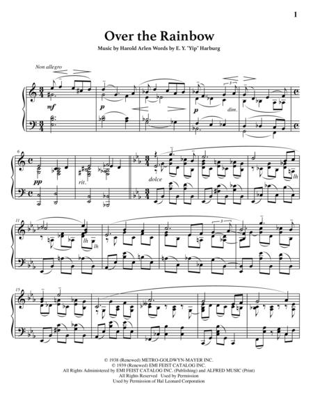 Over the Rainbow (advanced piano solo)