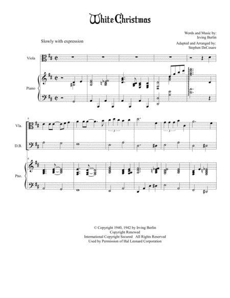 White Christmas (for String Quintet)