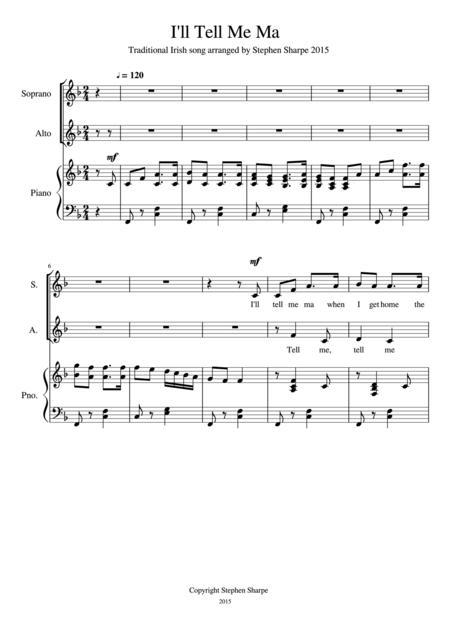 I'll Tell Me Ma SA Choir