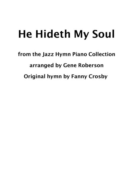 He Hideth My Soul Jazz Piano Hymn Collection
