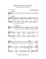 Does the Journey Seem Long? SATB & Piano