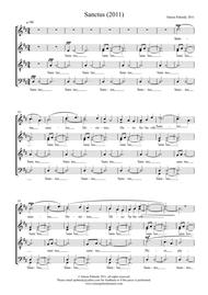 Sanctus 2011 (in Latin) in D for SATB choir, by Simon Peberdy