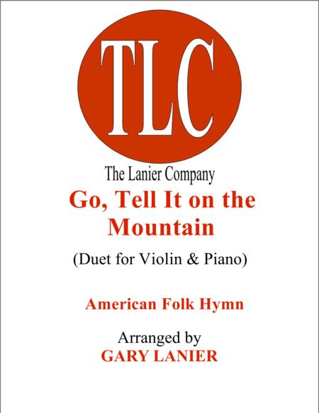 GO, TELL IT ON THE MOUNTAIN (Duet – Violin and Piano/Score and Parts)