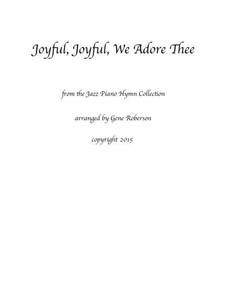 Joyful, Joyful, We Adore Thee from the Jazz Piano Collection