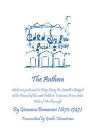 Giovanni Bononcini - Anthem (for the Funeral of John Duke of Marlborough)