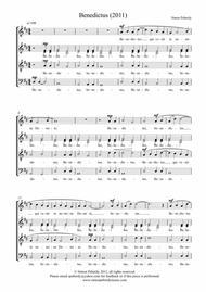 Benedictus (in Latin) for SATB by Simon Peberdy