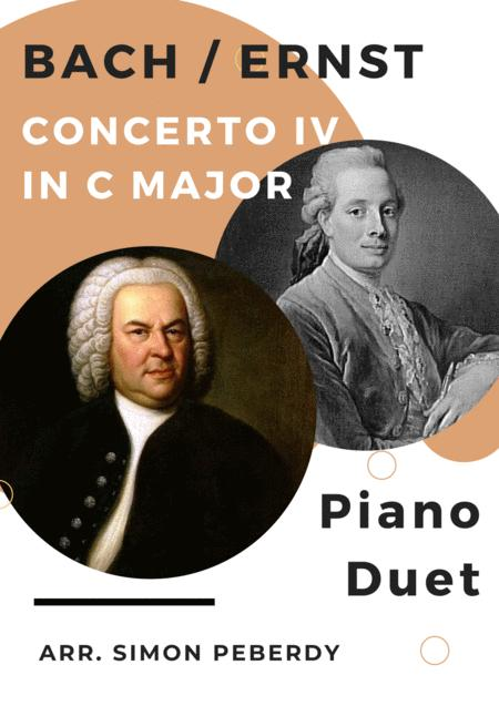 Bach/Ernst Concerto IV in C major, arr for piano duet by Simon Peberdy