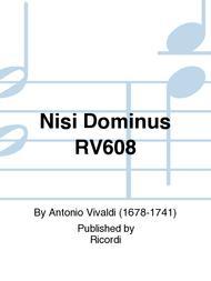 Nisi Dominus RV608