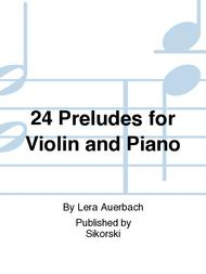 24 Preludes for Violin and Piano