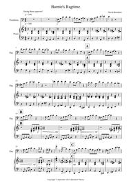 Burnie's Ragtime for Trombone and Piano