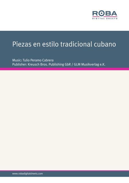 Piezas en estilo tradicional cubano