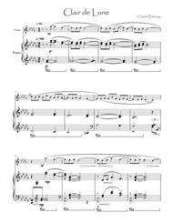 Debussy Clair de lune for flute & piano