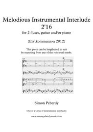 Melodious Instrumental Interlude 2'16 for 2 flutes, guitar and/or piano by Simon Peberdy