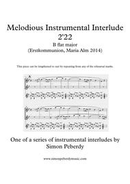 Melodious Instrumental Interlude 2'22 for 2 flutes, guitar and/or piano by Simon Peberdy