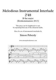 Melodious Instrumental Interlude 2'48 for 2 flutes, guitar and/or piano by Simon Peberdy