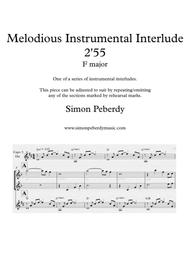 Melodious Instrumental Interlude 2'55 for 2 flutes, guitar and/or piano by Simon Peberdy