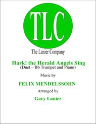 HARK! THE HERALD ANGELS SING (Duet – Bb Trumpet and Piano/Score and Parts)