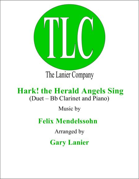 HARK! THE HERALD ANGELS SING (Duet – Bb Clarinet and Piano/Score and Parts)
