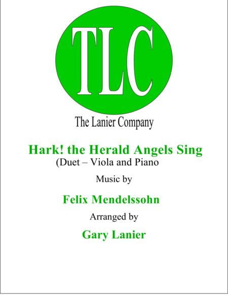 HARK! THE HERALD ANGELS SING (Duet – Viola and Piano/Score and Parts)