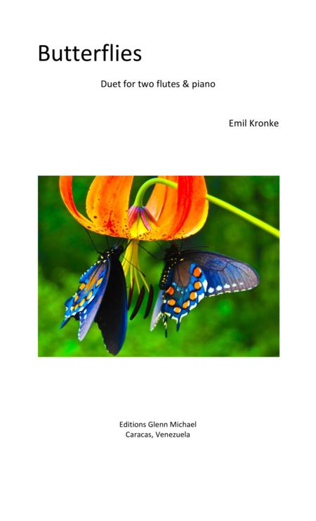 Butterflies for two flutes & piano