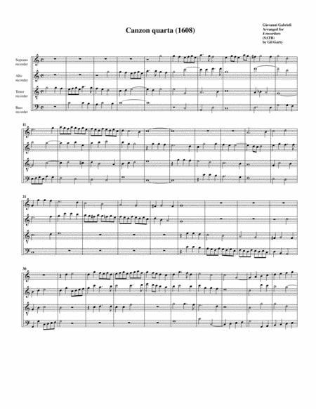 Canzon no.4 a4 (1608)