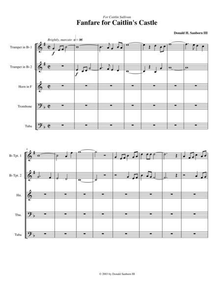 Fanfare for Caitlin's Castle (Brass Quintet)