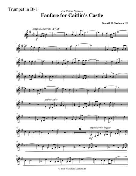 Fanfare for Caitlin's Castle--Trumpet in Bb #1