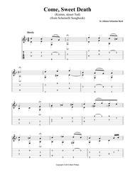 Download Come, Sweet Death (Komm, Süsser Tod) Sheet Music By