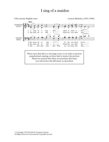 I Sing Of A Maiden (Arr. Lennox Berkeley)