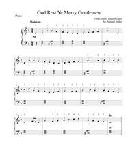God Rest Ye Merry Gentlemen - easy piano