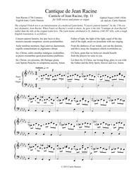 Cantique de Jean Racine (SAB)