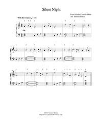 Silent Night - easy piano version