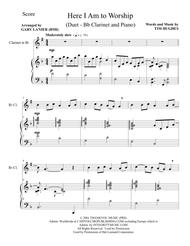 HERE I AM TO WORSHIP (Duet – Bb Clarinet and Piano/Score and Parts)