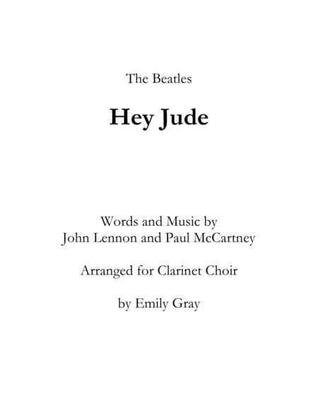 Hey Jude (Clarinet Choir)