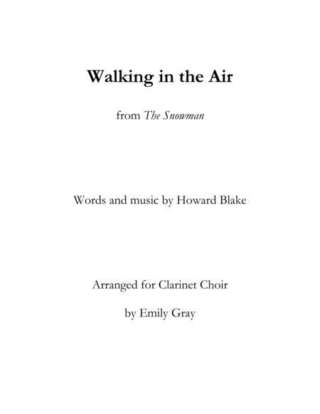 Walking in the Air (Clarinet Choir)