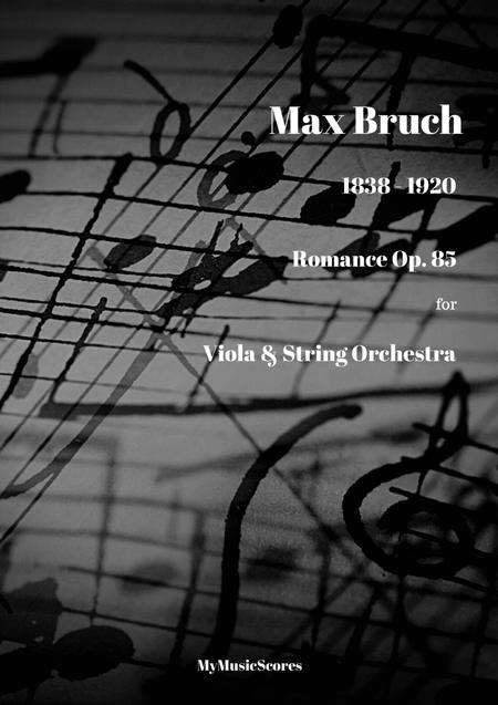 Bruch Romance for Viola and String Orchestra Op.85