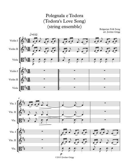 Polegnala e Todora (Todora's Love Song) (string ensemble)
