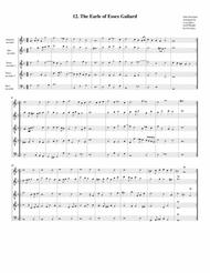 The Earle of Essex Galiard (12, 1604) (arrangement for 5 recorders)