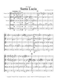 Santa Lucia - Italian Folk Song - Here in the twighlight - Brass Quintet