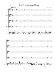 Join Us in Our Song of Peace - SATB with violin accompaniment