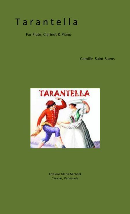 Saint Saens Tarantella for flute, clarinet & piano