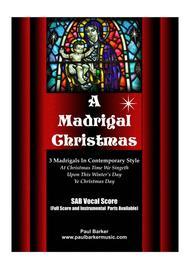 A Madrigal Christmas (Vocal Score)