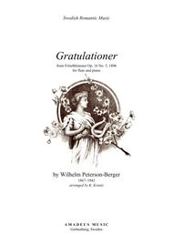 Gratulationer for flute and piano
