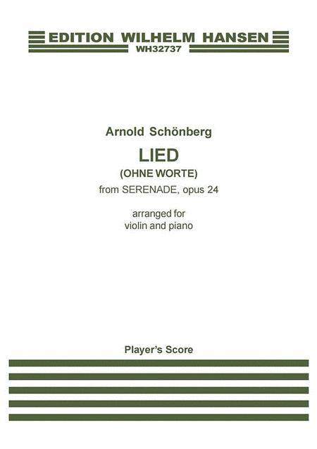 Lied (Ohne Worte) from Serenade Op. 24