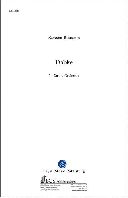 Dabke (String Orchestra Score)