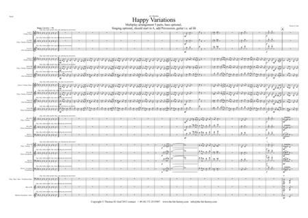 Happy (Birthday) Variations - Trumpet Quintet