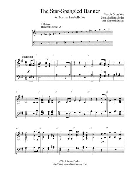 The Star-Spangled Banner - for 3-octave handbell choir