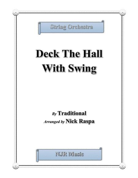 Deck The Hall With Swing for string orchestra