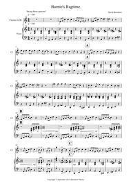 Burnie's Ragtime for Clarinet and Piano