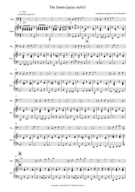 The Saints (Jazzy Style!) for Tuba and Piano